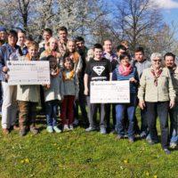 """Spendenübergabe der Peter-und-Paul-Gruppe """"d'Gruschdler"""""""